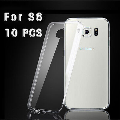 For Samsung Galaxy S6 10pcs/lot  Slim Thin Transparent Clear Soft TPU Case Cover