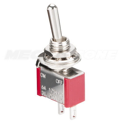 (1) NEW SPST Mini Toggle Switch ON-ON Solder Lug, High Quality. USA Seller!!!