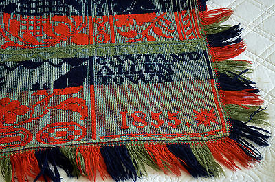 19th Century Pennsylvania Coverlet Signed and Dated C Wiand Allen Town 1855