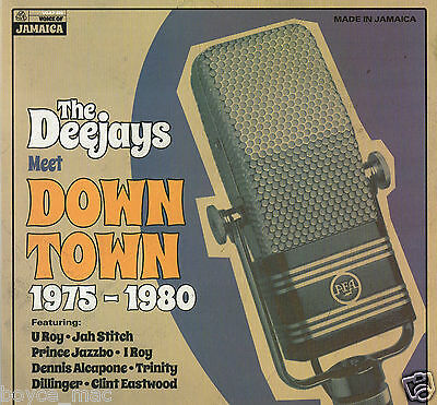 voice of jamaica LP: VARIOUS-the deejays meet down town 1975 to 1980   (hear)