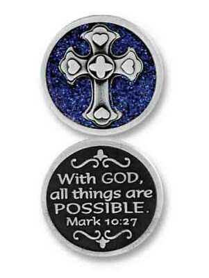 COMPANION COIN, WITH GOD... Pocket Token With Message, 34mm Diameter, Metal