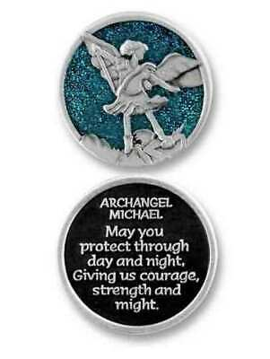 COMPANION COIN, ARCHANGEL MICHAEL, With Message, Prayer or Reading, 34mm Diamete