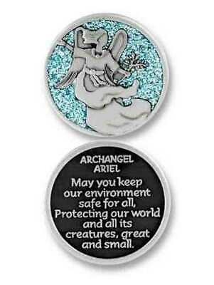 COMPANION COIN, ARCHANGEL ARIEL, With Message, Prayer or Reading, 34mm Diameter,