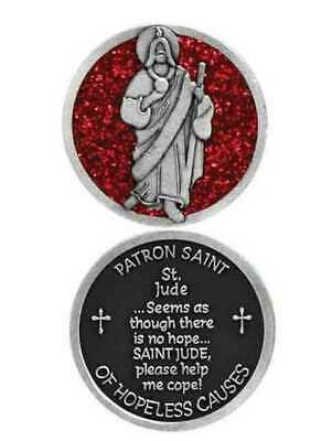 COMPANION COIN, ST JUDE, PATRON SAINT OF HOPELESS CAUSES, W Message, Prayer or R
