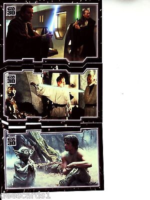 Star Wars 30th Anniversary TRYPTICH MASTER AND APPRENTICE  PUZZLE INSERT SET