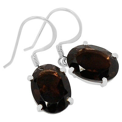 Smoky Quartz 925 Sterling Silver Earrings Jewelry E2116S