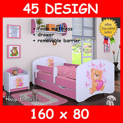 Toddler Children Kids Bed Bedroom New Slatted Frame With Mattress