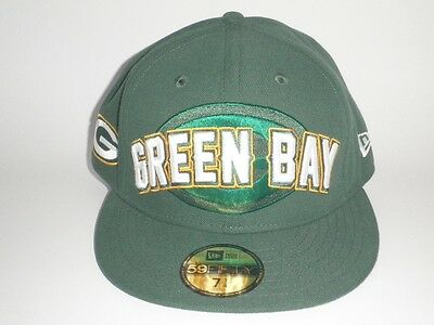 NEW ERA GREEN Bay Packers DRAFT Hat 7 1 4 ( 35) Players 59Fifty ... 116b70d04386