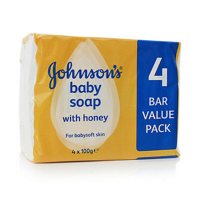 New Johnson's Baby Soap with Honey 24 Pack