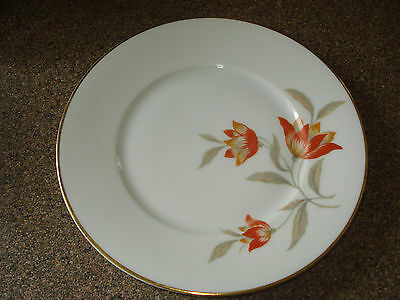 6 VINTAGE FLORAL LUNCHEON PLATES SIGNED HUTSCHENREUTHER