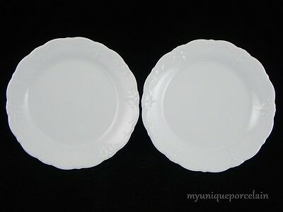 HUTSCHENREUTHER TIRSCHENREUTH GERMANY BARONESSE BREAD AND BUTTER PLATES SET OF 2