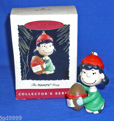 Hallmark Ornament The Peanuts Gang #2 1994 Lucy Holds a Football Used Bad Box