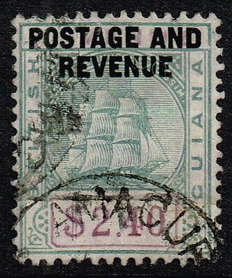 British Guiana 1905 $2.40 green & violet, used (SG#251)