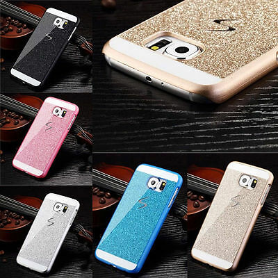 For Samsung Galaxy Phone Luxury Ultra thin Bling Glitter Hard PC Back Case Cover