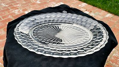 Crystal Clear Bubble Oval Platter