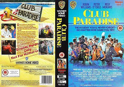 Club Paradise, Robin Williams Video Promo Sample Sleeve/Cover #14704