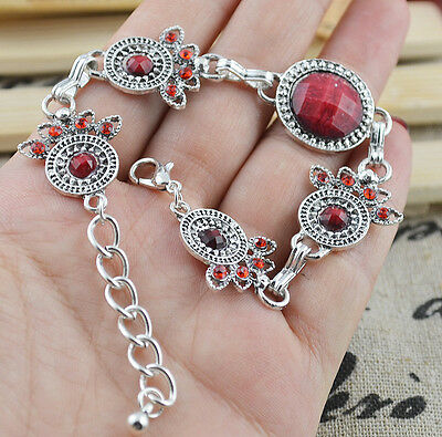 New Classical Natural hot RESIN cute tibet silver Bracelet H-256