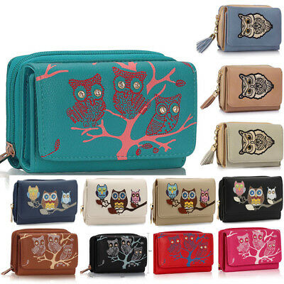 LadLadies Designer Faux Leather Owl Purse Wallet Coin Small Clutch Handbag Chic
