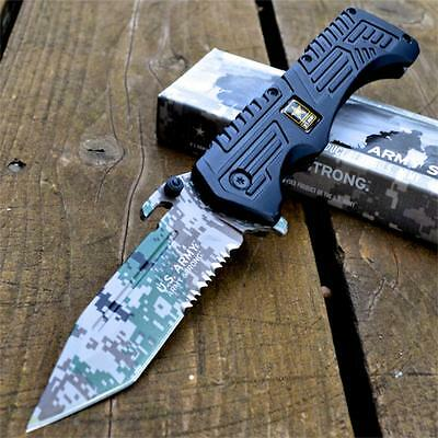 US ARMY Officially Licensed SPRING ASSISTED OPEN Tactical Folding POCKET KNIFE