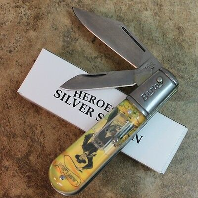 "Novelty Cutlery ""LASH LARUE""  2 Blade 3.5"" Barlow Pocket Knife NV247 zix"