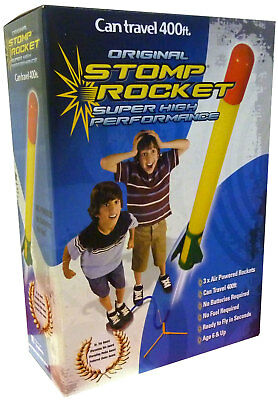 Stomp Rocket Super High Performance Air Powered inc 3 Rockets Travel Up To 400ft