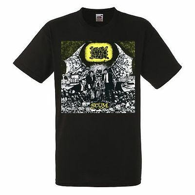 NAPALM DEATH SCUM Black New T-shirt Rock T-shirt Rock Band Heavy Metal Tee