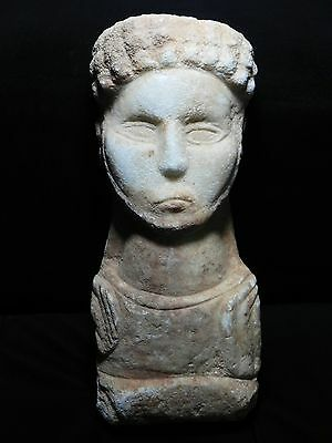 Zurqieh - Roman Provincial , Eastern Empire , Marble Head Of A Male , 1St-3Rd