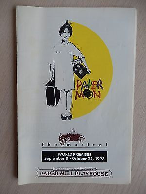 1993 - Paper Mill Playhouse Theatre Playbill - Paper Moon - Gregory Harrison