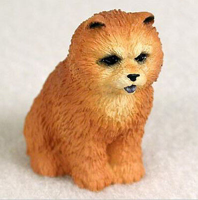 CHOW (RED)  TINY ONES DOG Figurine Statue Resin Pet Lovers Gift