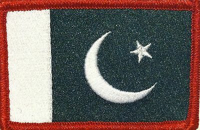 PAKISTAN Flag Patch With VELCRO® Brand Fastener Military Emblem #8