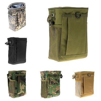 Military Molle Belt Tactical Paintball Magazine Dump Drop Reloader Pouch Bag S
