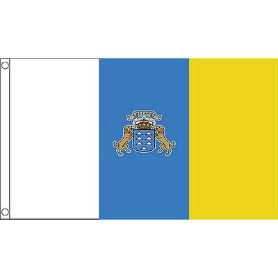 Canary Islands Flag 5Ft X 3Ft Spain Spanish Canaries Banner With 2 Eyelets New
