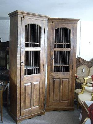 A Good Pair Of Vintage Rustic Industrial Cabinets