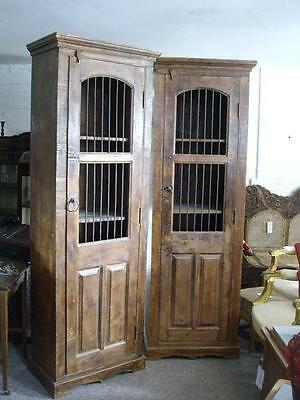 A Good Pair Of Vintage Rustic Industrial Hall Storage Cabinets Cupboards