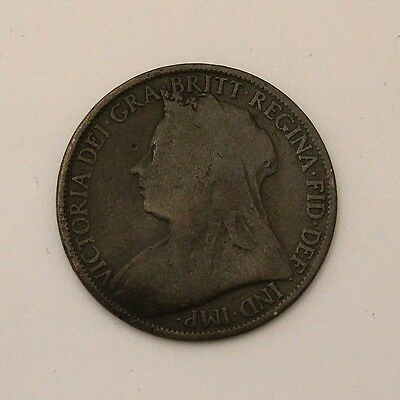 Great Britain UK England 1 Penny 1896 Coin Bronze