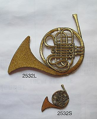 #2532 French Horn,Mellophone Musical Instruments Embroidery Applique Patch