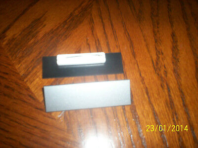 20 Silver Plastic Blank Name Tags Badges, Pins, 3/4 x 2.5 inches