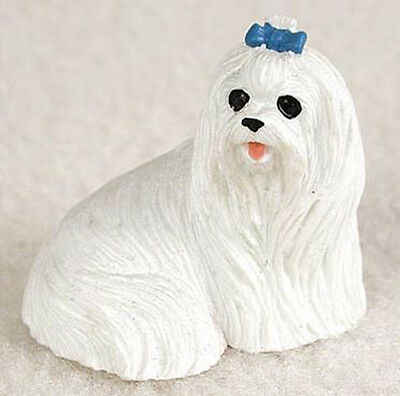 MALTESE  TINY ONES DOG Figurine Statue Resin Pet Lovers Gift