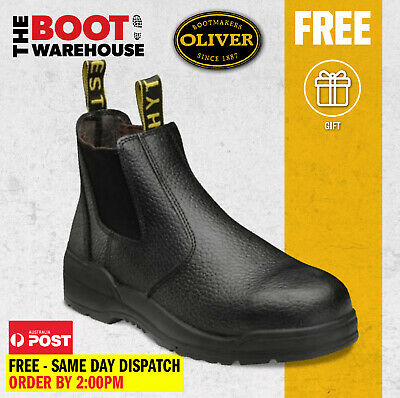 Oliver / Kings Work Boots, 15480, 'Black', Elastic Sided, Steel Toe Safety. New!