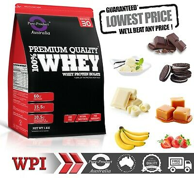 2KG WHEY PROTEIN ISOLATE POWDER  WPI  100% PURE -Choose Flavour