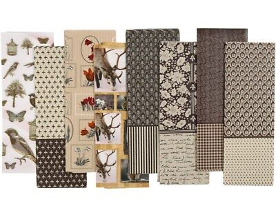 80 Sepia Tones Assorted Decopatch Paper Sheets | Decoupage Crafts