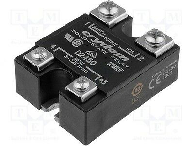Crydom D2450 Solid State Relay 3-32 VDC, 50A NEW