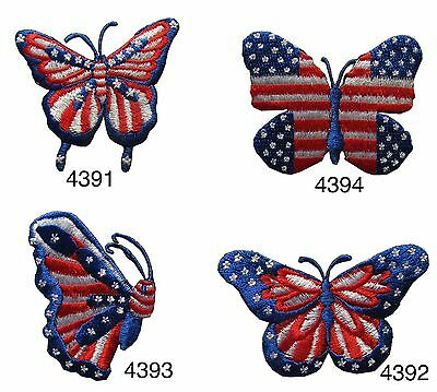 United States Butterfly Embroidery Iron On Applqie Patch