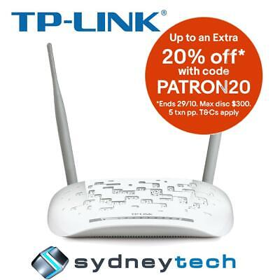 New TP-Link TD-W8968 Wireless N300 ADSL2+ Modem Router with USB Port
