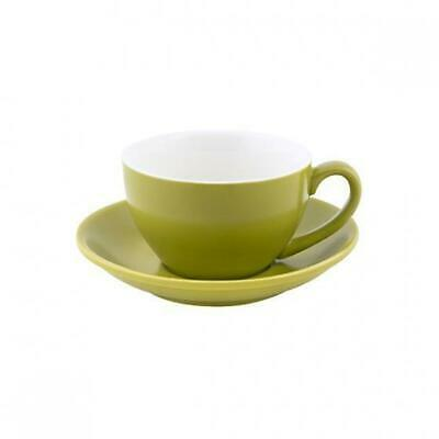 6x Cappuccino Cup & Saucer Set Bamboo Green 200mL Bevande Coffee Cups Tea Cafe