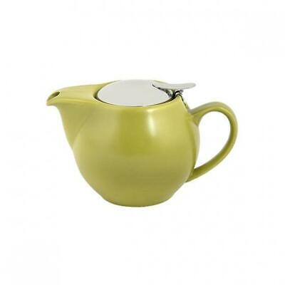 Teapot w Infuser 350mL Bamboo Green Bevande Tealeaves Tea Leaf Coffee Brew Pot