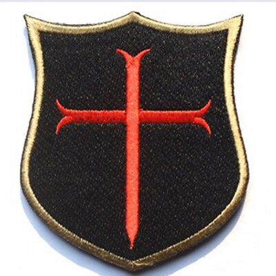 British Army Knights Templar Morale Embroidered Badge Tactical Patch Back