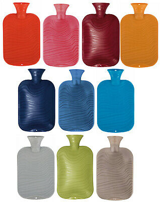 Fashy Wavy Ribbed Latex Free Hot Water Bottle