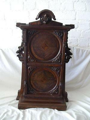 Antique Ornate Victorian Walnut Table Top Or Wall Cabinet