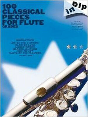 Dip In: 100 Classical Pieces For Flute (Graded), New, Wise Publications Book